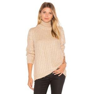 NWT Blank NYC Chunky Turtleneck Sweater Tan Small